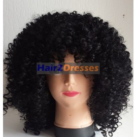 Afro Curly Magnate Black
